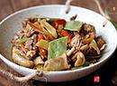 紫扁豆炒鸭肉