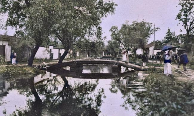 老照片:1908年的江南水乡