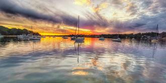 悉尼海湾绝美晚霞