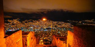 高原山城拉巴斯绝美夜景