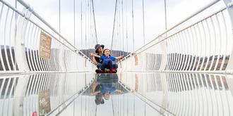 高空玻璃桥有多惊险