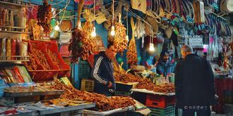 苏塞古城的阿拉伯市集