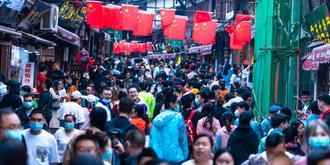 國慶節磁器口游客爆滿