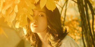 美女暖秋写真