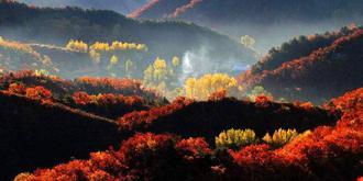 秋色铺满喇叭沟