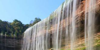 震撼的万州大瀑布