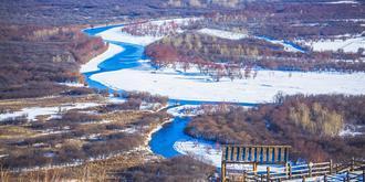 冬天的額爾古納濕地