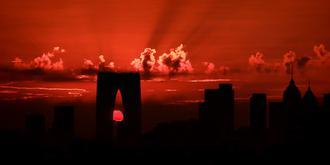 蘇州的朝霞紅得像火