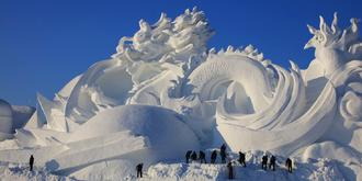 冰城雪雕,有生命的雪!