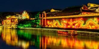 夜游南京秦淮河畔