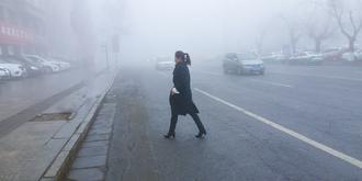 實拍吉林大霧天氣