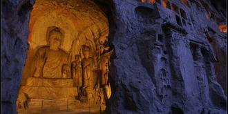 龙门石窟夜景你见过吗