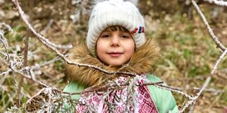 漂亮可爱的俄罗斯小姑娘
