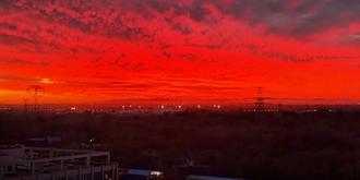 京城壯觀的火燒云