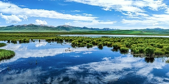 没有花的花湖也很美