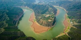 黄河壮美的乾坤湾