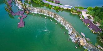 中国最宽的城市瀑布