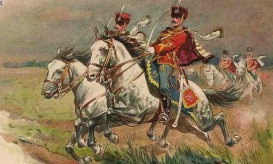 明信片:20世纪初的沙皇骑兵部队