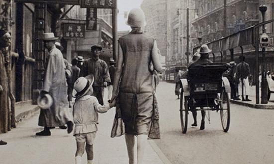 老照片:晚清时期上海繁华的南京路