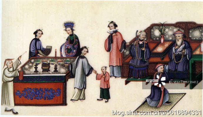 十九世纪外国绘画中清代居家生活