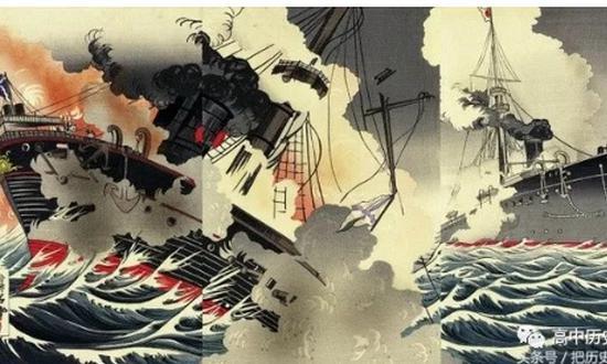 日俄战争时期,日本人做的版画