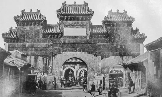 老照片:北京东岳庙庙会