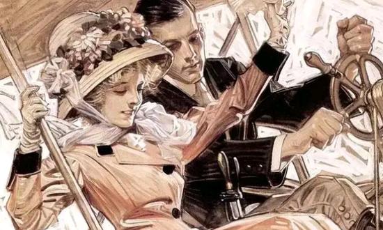 百年前的美国插画,如今依旧很前卫