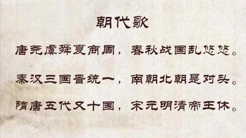 十分钟搞懂中国古代通史