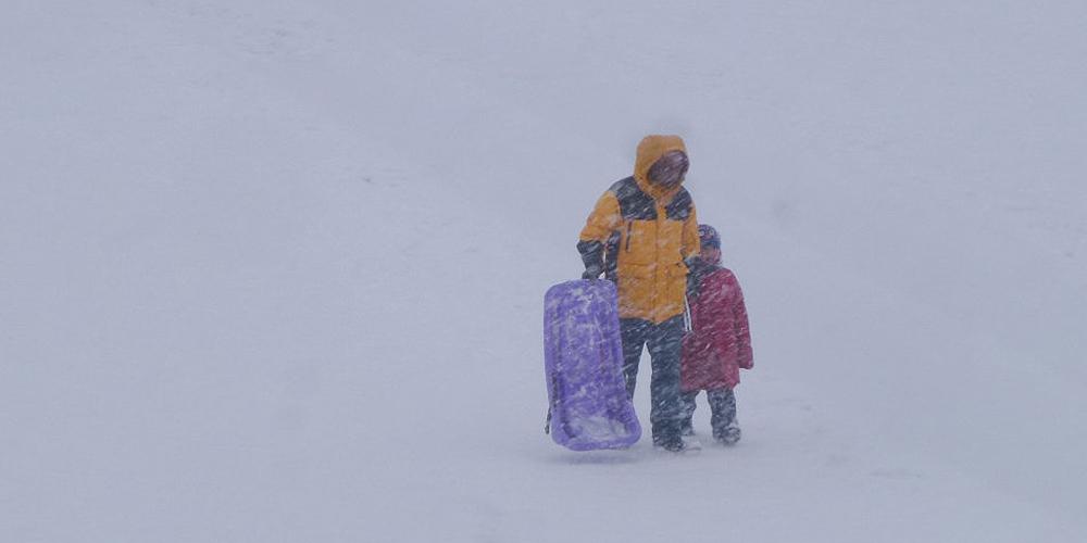 实拍:冒雪出行的吉林人
