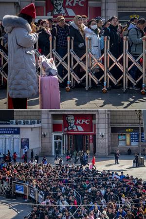 北京火车站迎来春运返程高峰