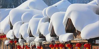 雪乡的屋檐得天独厚