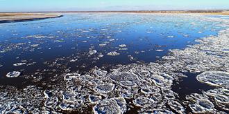 壮观的黄河冰凌