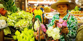 柬埔寨菜场众生相