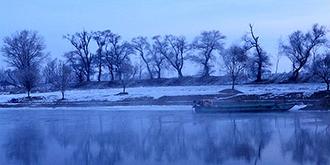 雾凇岛的晨