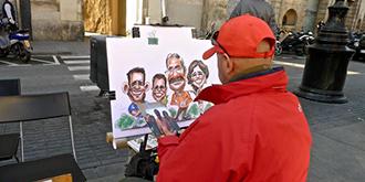 西班牙街头卖艺人
