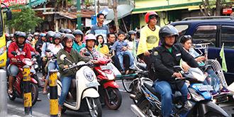 印尼街头的随性?#24149;? title=