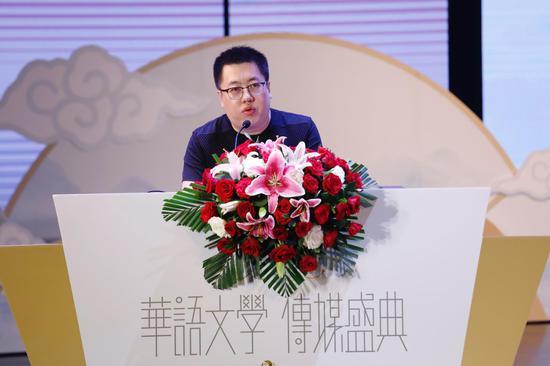 """班宇斩获第17届华语文学传媒盛典""""年度最具潜力新人"""" 摄影:陈辉"""