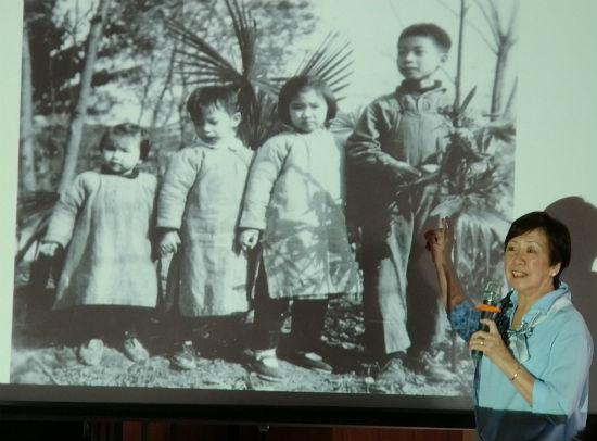 三毛(左一)童年的照片