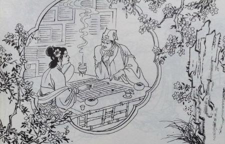 古代女子简笔画