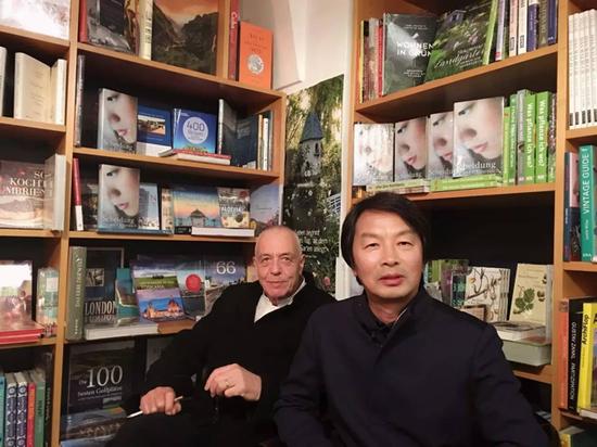 刘震云和德国汉学家Michael Kahn-Ackermann