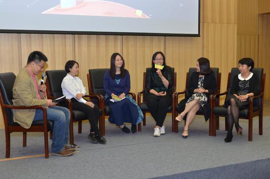 左起:李一慢、三川玲、李峥嵘、朱有琛、陈妍、黄纷纷