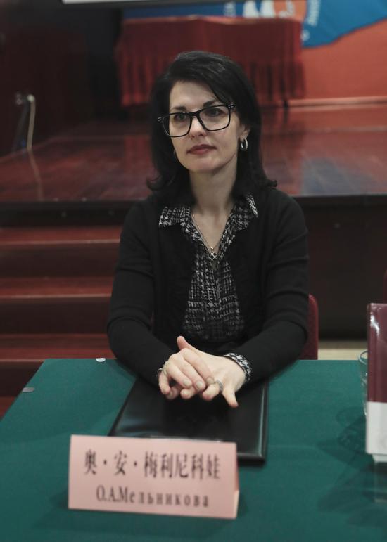 俄罗斯文化中心主任奥莉加·梅利尼科娃女士