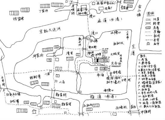 《在孟溪那边》手绘地图