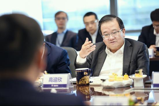 △高迎欣董事长表示,追求高品质、持久、稳健的发展理念与民生银行高度一致
