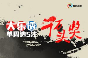 彩市图说第8期:大乐透单周造5注千万头奖