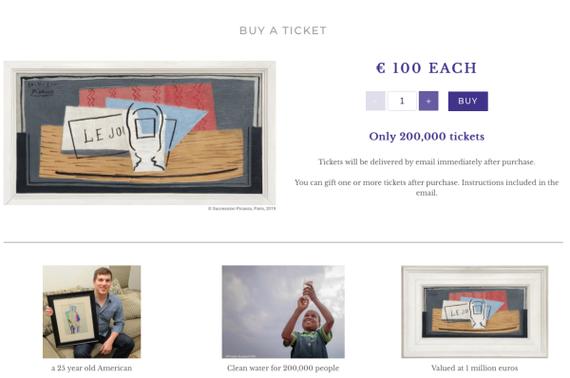 """100欧一件""""毕加索"""",购彩不一定只为五百万"""