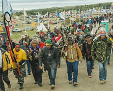 印第安人抗议建设输油管道
