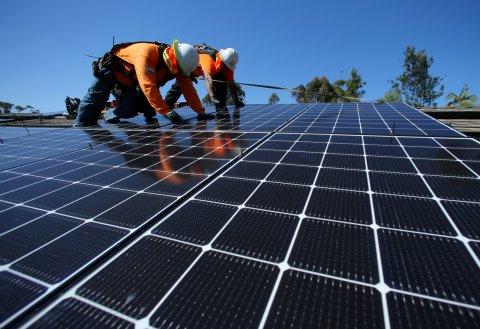 第四季中国对美太阳能面板出口几乎是前三季的12倍