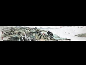李春琦限量签名版画《风正一帆悬》