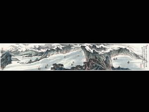 李春琦限量签名版画《朝发白帝城》